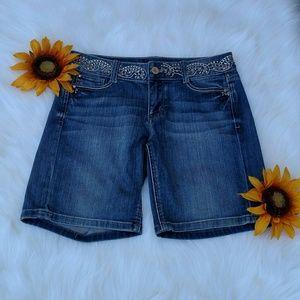 WHBM Short Bedazzled Waist Shorts